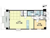 LDK広々21.8畳の分譲賃貸マンション!リノベーション済みでお洒落な室内です♪ 6階 間取り図