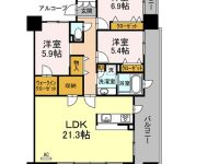 小禄宮城リウボウ近く!分譲マンションの一室です★広々リビングに充実設備!! 2階 間取り図