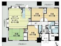 各居室からデイリ可能な3面バルコニー!嬉しい駅近♪くつろげる和室もあります★ 10階 間取り図
