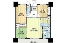 アパートマンション 16階 間取り図