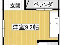 レンジフード新品!IHコンロ付!3階は日当たりが良く屋根裏部屋のような雰囲気です♪2階から内階段で繋がっています。モノレール「おもろまち駅」「安里駅」まで各徒歩約6分!洗濯機は外置きとなります。 2階 間取り図