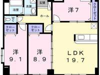 古島駅まで徒歩4分★コンビニ・シーパー近くにあり便利です♪7月中旬入居可能です!約20畳あるリビングでゆっくり団欒はいかがですか♪保証人不要です!! 5階 間取り図