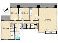 La mar 久茂地 8階 間取り図
