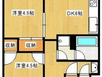 【分譲賃貸】 和室→洋室へリフォーム済み!キッチンコンロも新調(3口)! エアコンも新調し、独立洗面台もございます! 2階 間取り図