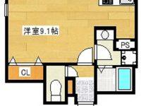 お家賃1ヶ月分フリーレントになりました!!モノレール美栄橋駅まで徒歩5分!ドン・キホーテ、マックスバリュが近く車がなくても安心です♪ 5階 間取り図
