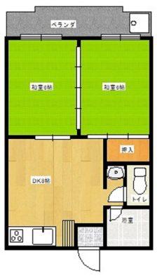 那覇市国場の賃貸アパートマンション 間取り図
