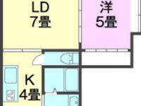【8/14ご退去予定】やさしい色合いで落ち着いたお部屋です。古島駅まで徒歩約12分!国道330へアクセスしやすい立地です。ネット無料、エアコン、独立洗面台等設備充実♪バイク置き場もございます。 3階 間取り図